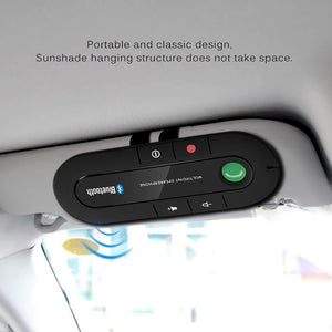 Bluetooth 4.1 Wireless Handsfree Magnetic Slim Car Kit Speaker Phone Sun Visor Clip (3 Color)