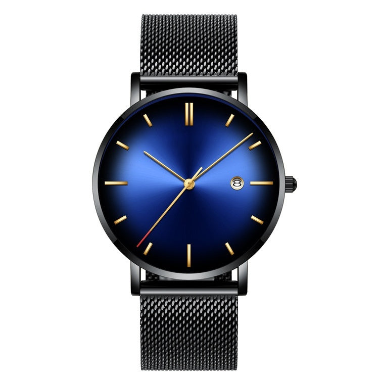 New Business Fashion Men's Watch Calendar Wrist Watch Quartz Watch Alloy Band Luxury Men Watch relog jam tangan