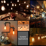 3pcs / 6pcs / 9pcs / 12pcs New Retro Edison Bulb E27 40W 220V Filament Incandescent Light Bulbs Decoration