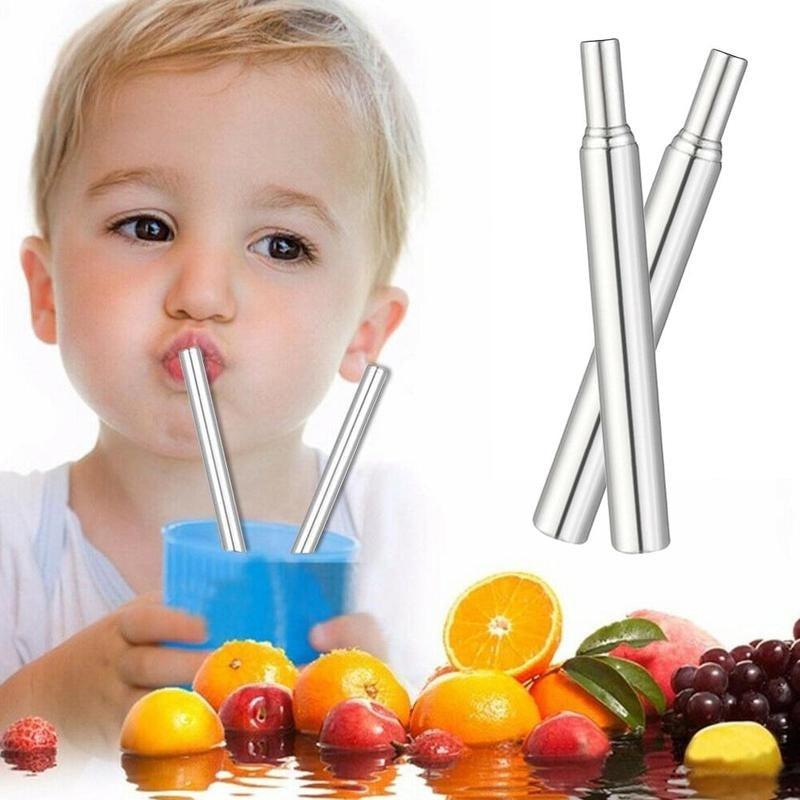 3Pcs/set Telescopic Drinking Straw Stainless Steel Metal Straw&Cleaning Brush&Carrying Case