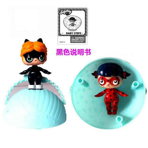 New Doll Ladybug Doll Eggshell Dolls Change Color Clothes, Bottles, Bags and Shoes Girls Toys Gift for Girl