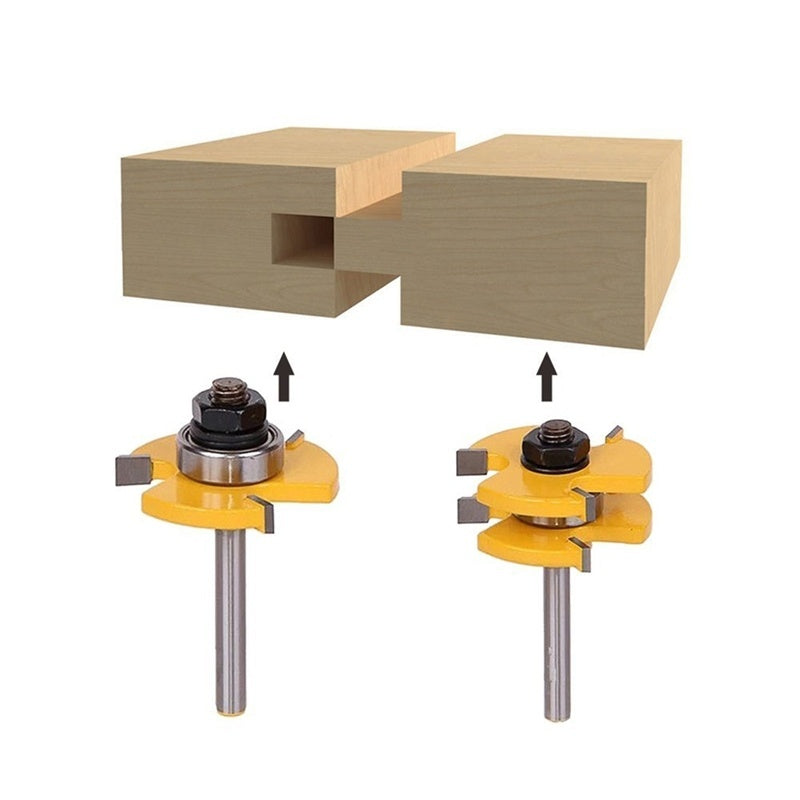 Tongue & Groove Router Bit Set 3/4 For Woodworking Tool