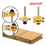 2pcs Tongue & Groove Router Bit Set 3/4 For Woodworking Tool