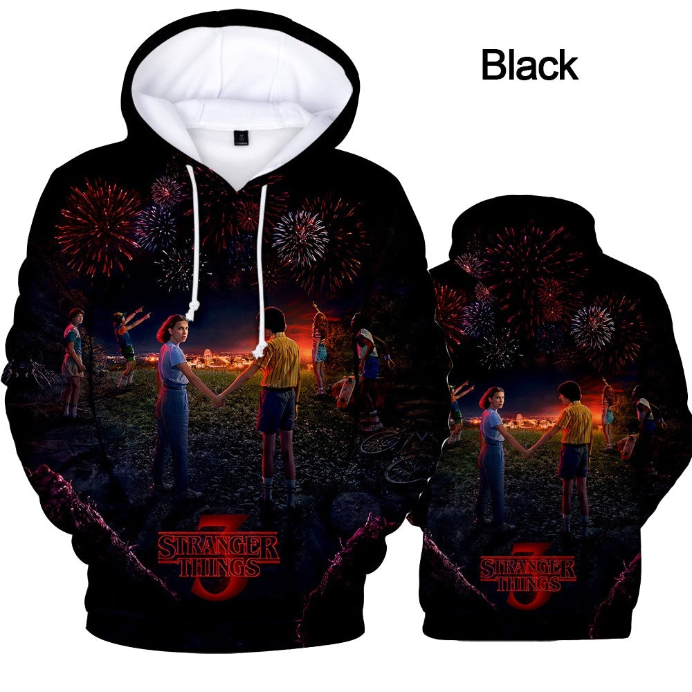 2019 Women Men's Hoodie Stranger Things Season 3 Sweatshirt TV series Stranger Things 3D Print Winter Warm Hoodies