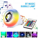 Vogue bluetooth Wireless LED RGB Light Bulb Speaker Remote Control Music Player Lamp