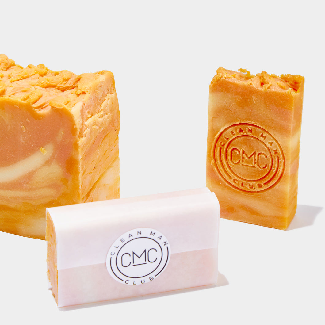 Clean Man Club - HAND MADE ORANGE OLIVE OIL SOAPS