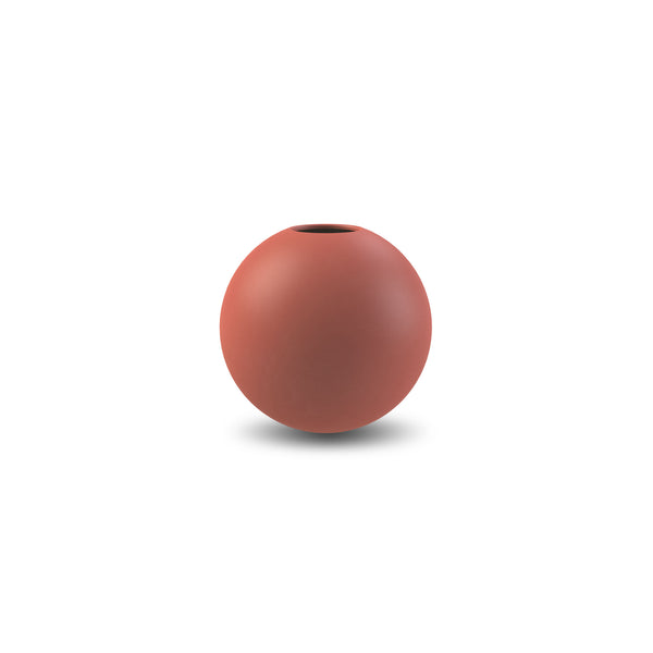 COOEE ceramic Ball Vase Rust 10cm / 20cm