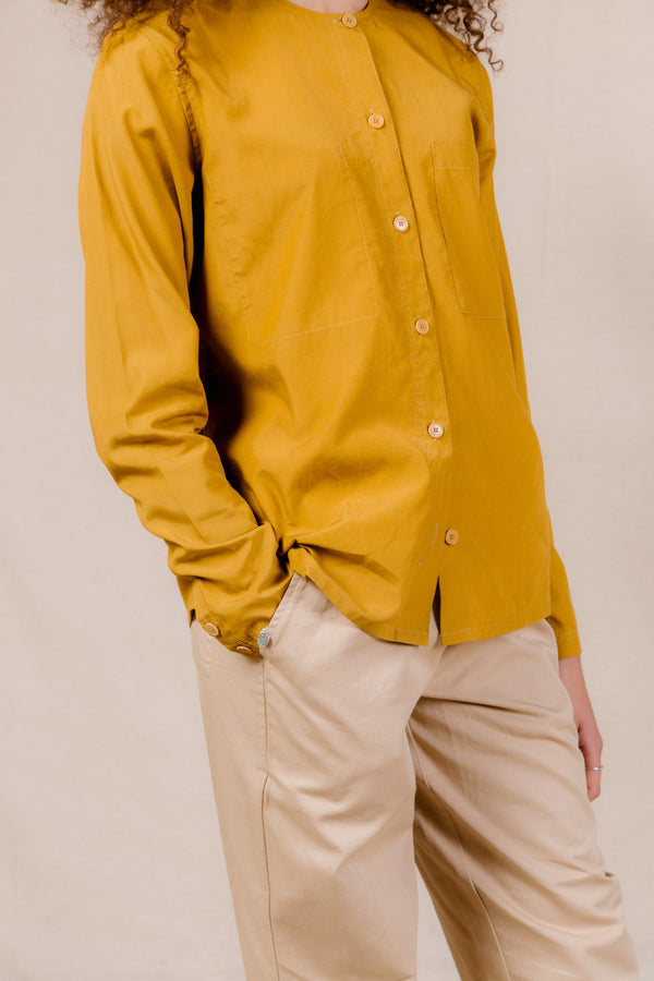 Collarless Shirt<br><strong>RRP £160  Now £85</br></strong>