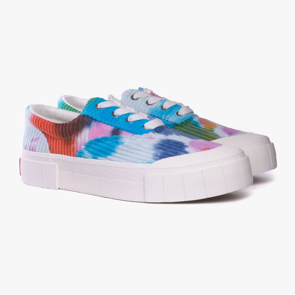 Good News Opal Tie Dyed Corduroy Lo Sneaker<br><strong>RRP £120 NOW £70</br></strong>