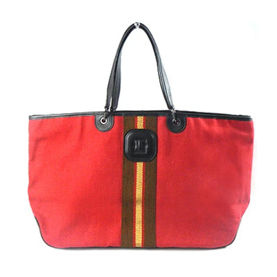 LONGCHAMP STRIPE Leather Trim Shoulder Bag - BEST BUY WORLD MALAYSIA