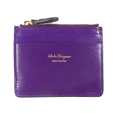 Salvatore Ferragamo Leather Card/Coin Case - BEST BUY WORLD MALAYSIA