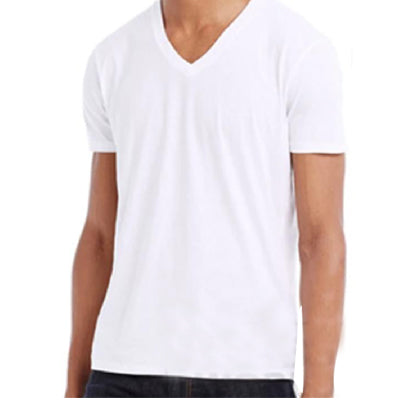 ARMANI EXCHANGE MEN V-NECK White Shirt - BEST BUY WORLD MALAYSIA