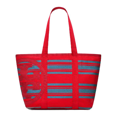 TORY BURCH Beach Stripe Small Tote (Red/Blue) - BEST BUY WORLD MALAYSIA