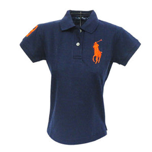 RALPH LAUREN Women Regular Polo Court (Navy Orange) - BEST BUY WORLD MALAYSIA