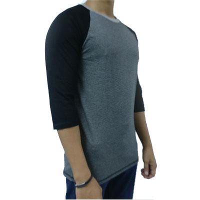 ARMANI EXCHANGE MEN Black & Grey Stripe With Black Sleeve - BEST BUY WORLD MALAYSIA