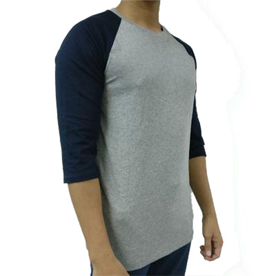 ARMANI EXCHANGE MEN Grey Shirt With Navy Sleeve - BEST BUY WORLD MALAYSIA