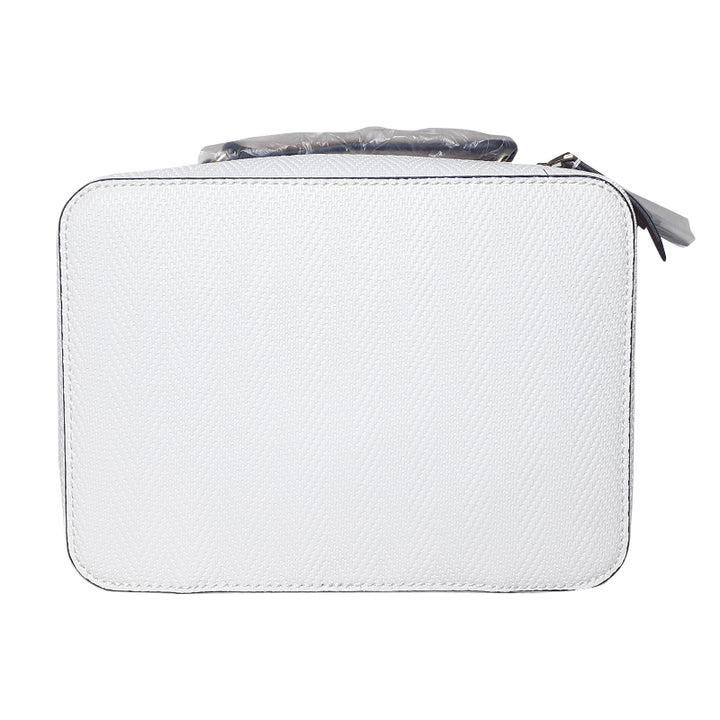 ESTĒE LAUDER White Faux Leather Train Case Cosmetic Bag - BEST BUY WORLD MALAYSIA
