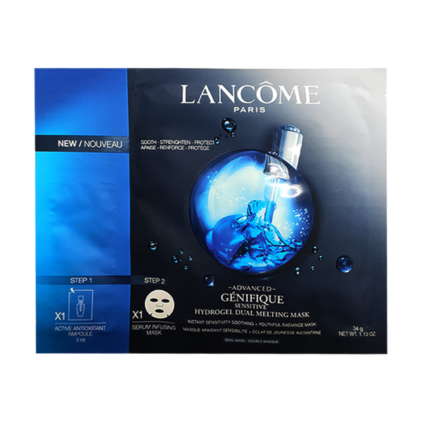 LANCÔME ADVANCED GÉNIFIQUE Sensitive Hydrogel Dual Melting Mask (1pc) - BEST BUY WORLD MALAYSIA