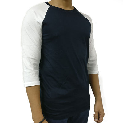 ARMANI EXCHANGE MEN Dark Navy Shirt With White Sleeve - BEST BUY WORLD MALAYSIA