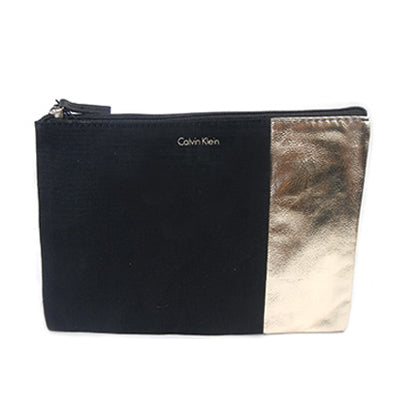 Black and Gold Cosmetic Pouch