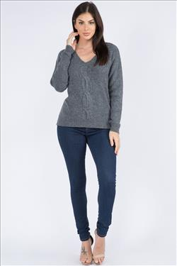 Survival Lenox Cable Front Sweater