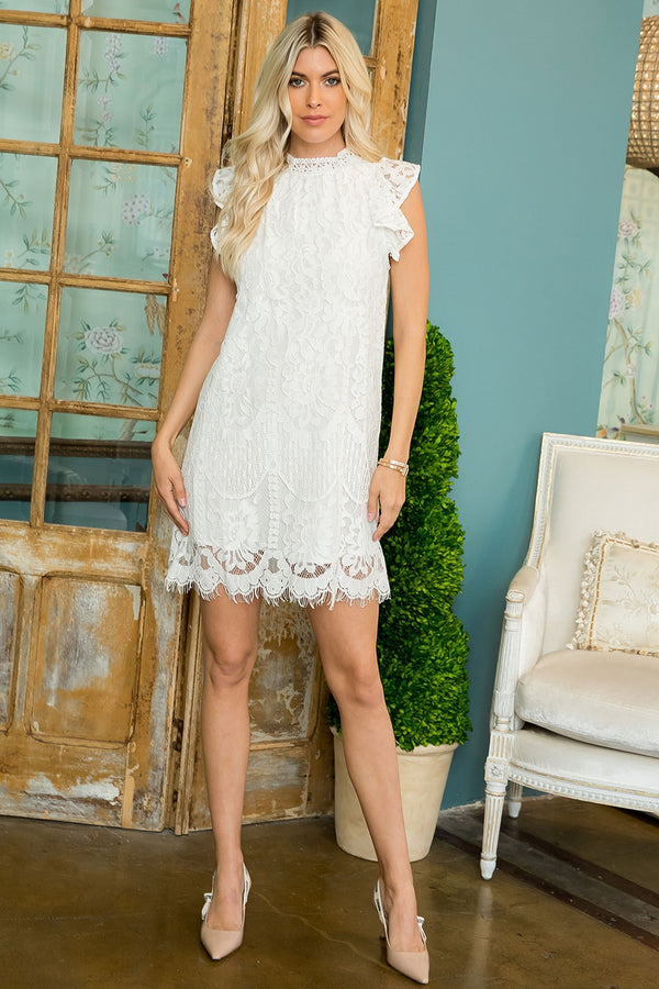 Ann Marie's Boutique Scalloped Lace Sheath Dress
