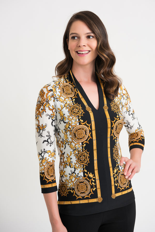 Joseph Ribkoff Golden Medallion Tunic