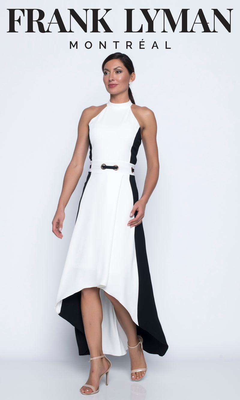 Frank Lyman Cold Shoulder Cocktail Dress