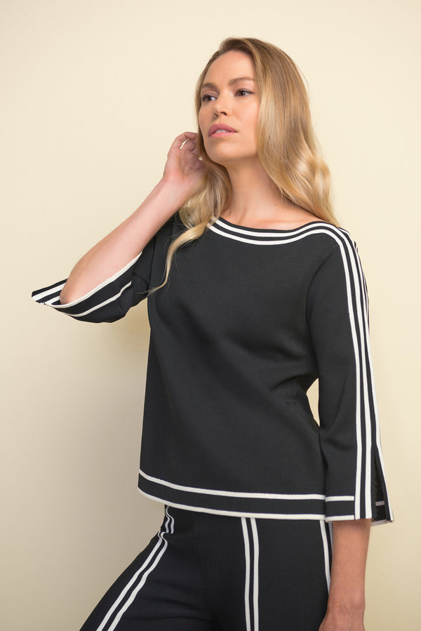 Joseph Ribkoff Stripe It Rich Knit Top