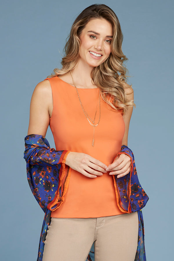 Judy P  Sabrina Sleeveless Top