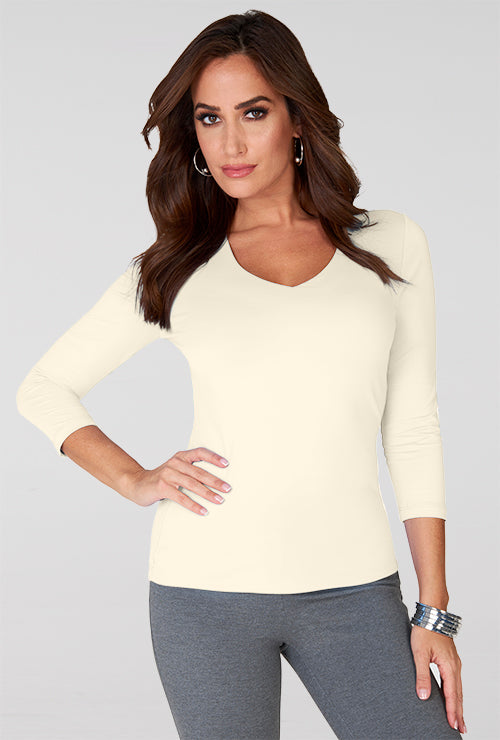 Judy P Relaxed Fit V-Neck Top