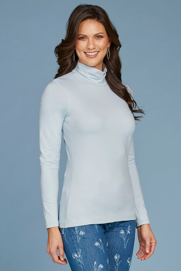 Judy P Turtleneck Long Sleeve Top