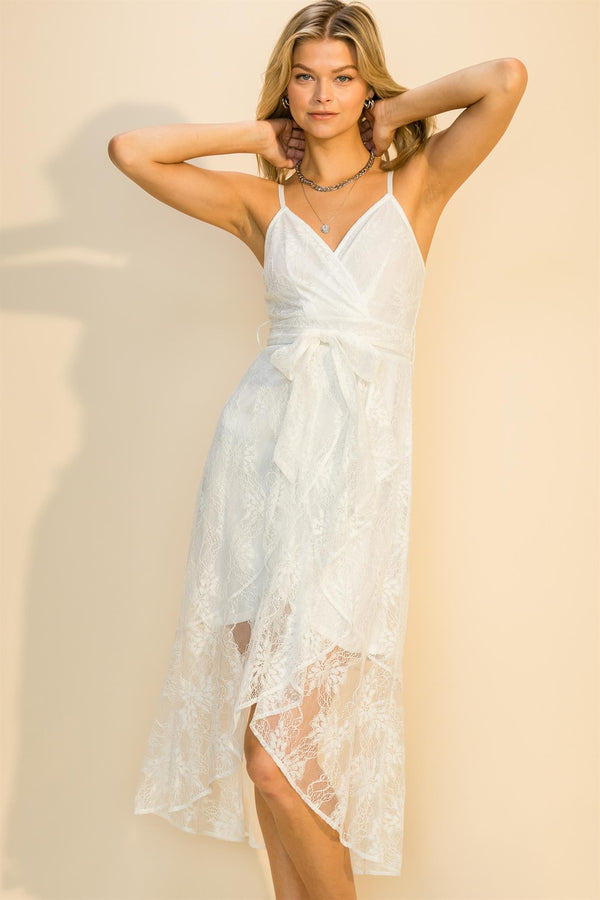 Vision in Lace High Low Dress