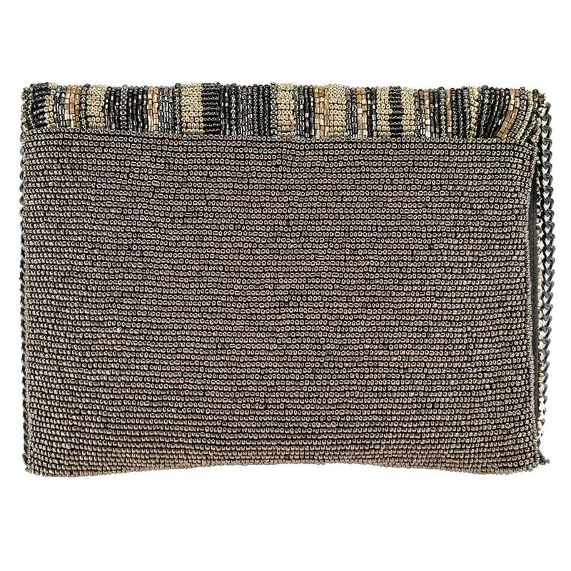 Mary Frances Skyline Pewter Clutch