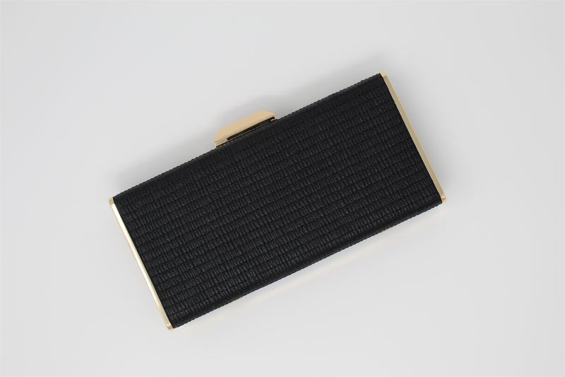 Quilted Box Clutch Bag