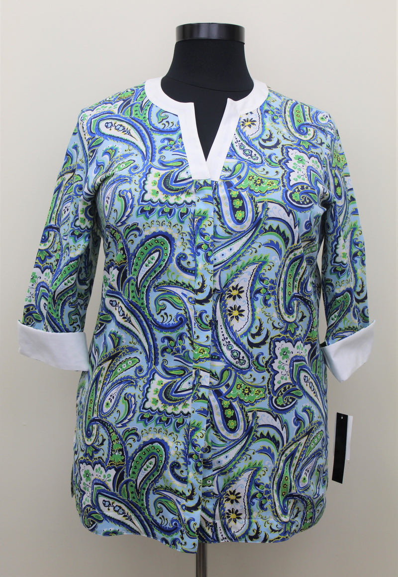 Foxcroft Perfect Paisley Tunic