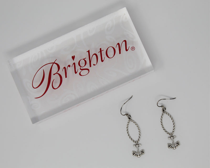 Brighton Indigo Beach Anchor French Wire Earrings