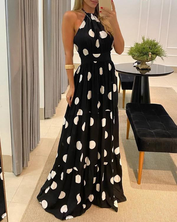 Ann Marie's Boutique Party in Polka Dots Maxi