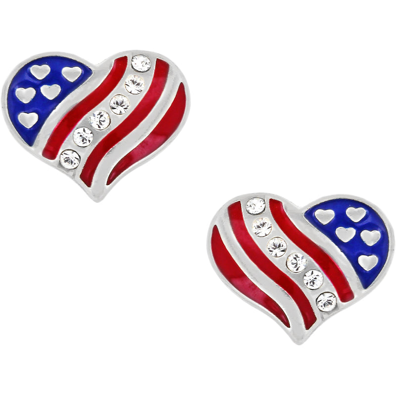 Brighton Hearts and Stripes Mini Post Earrings