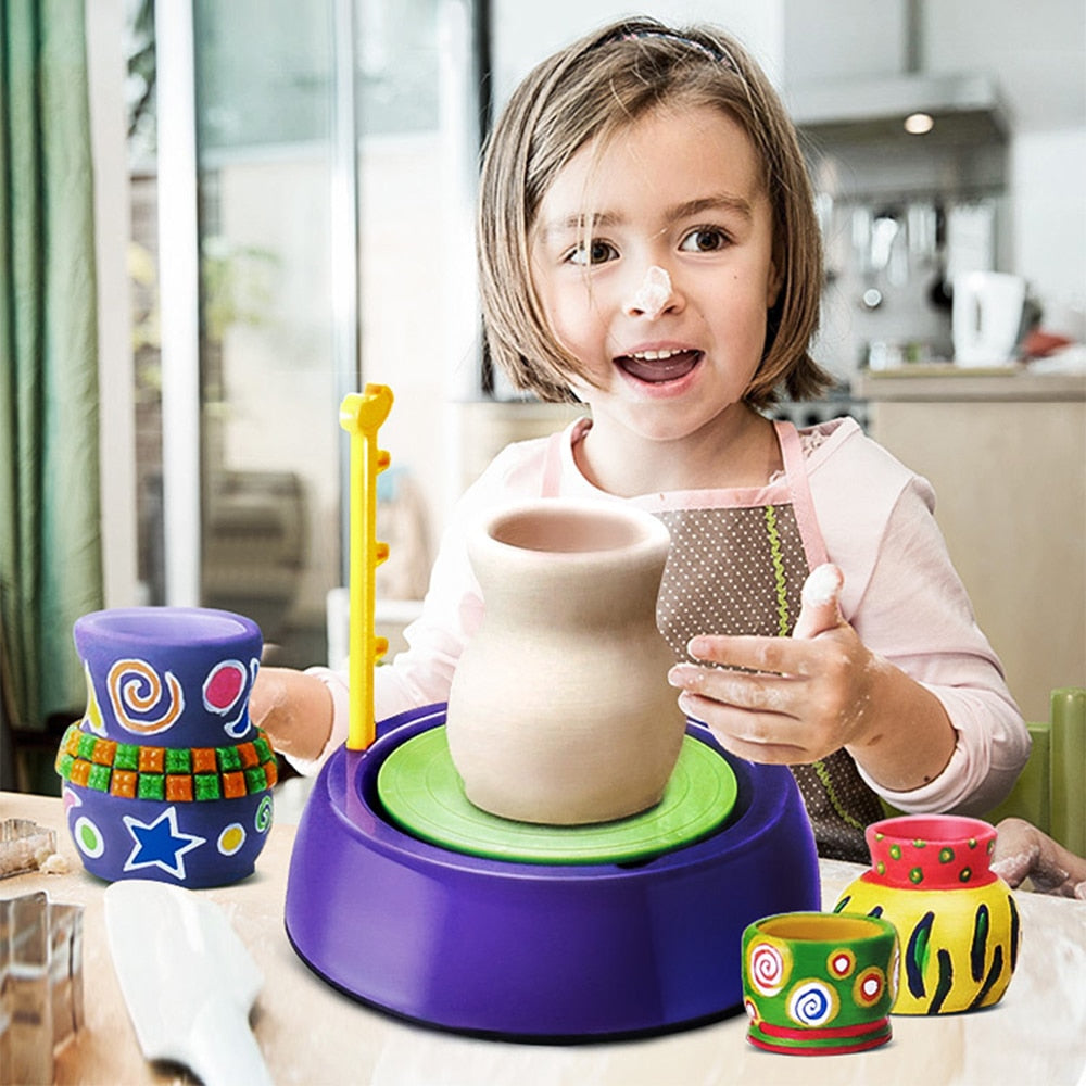 DIY Handmake Ceramic Pottery Machine Kids