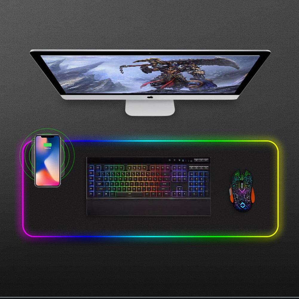 Waterproof Ambient colorful charging mouse pad