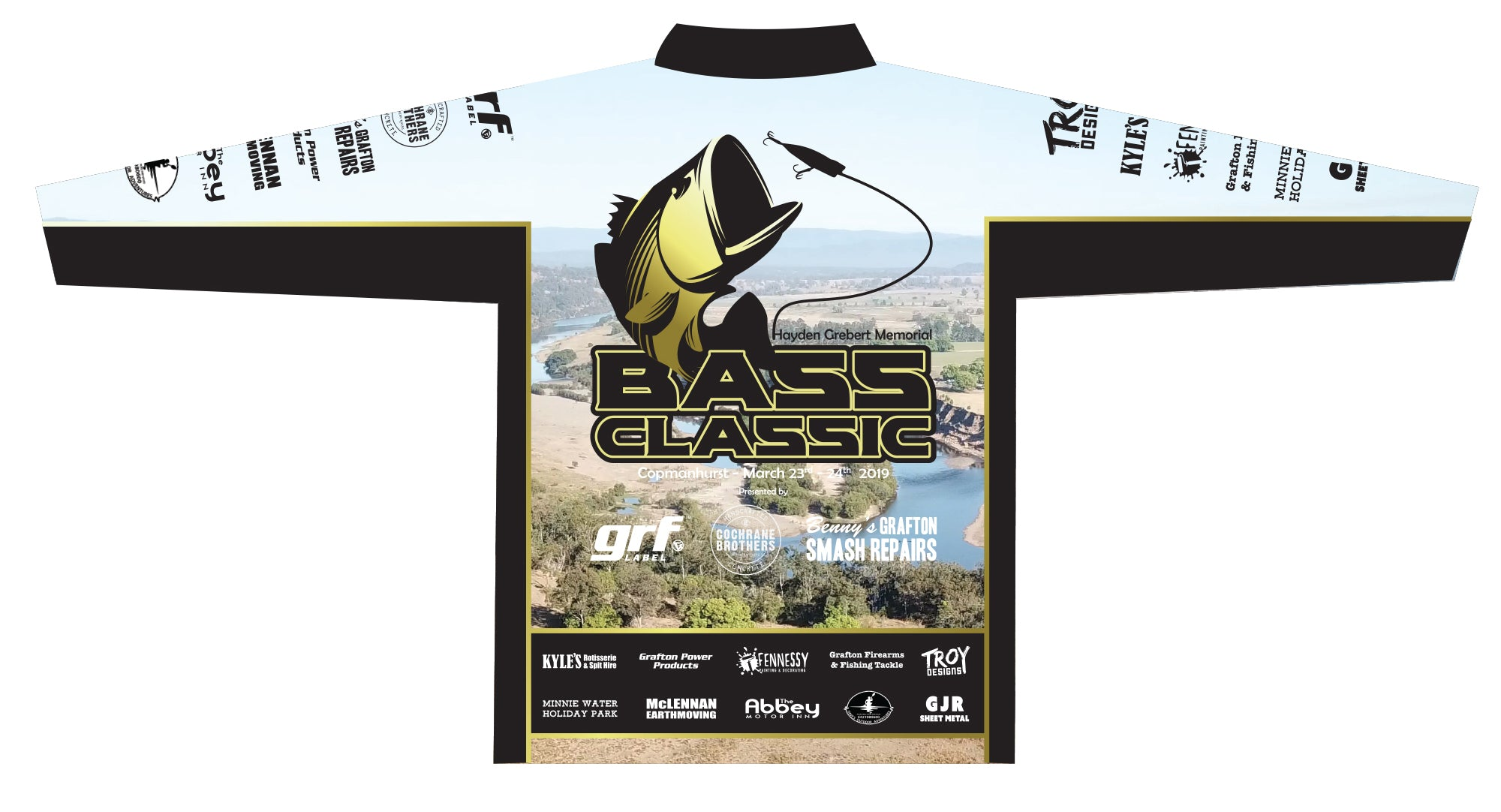 Copmanhurst Bass Classic Fishing Contest GRF Fishing Shirt
