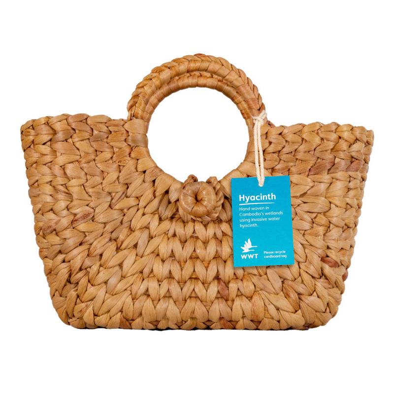 Hoopla water hyacinth bag with clasp