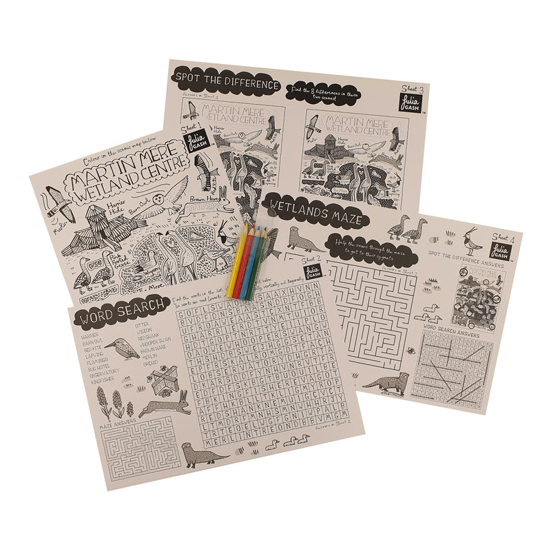 Martin Mere Wetland Centre colouring activity pack