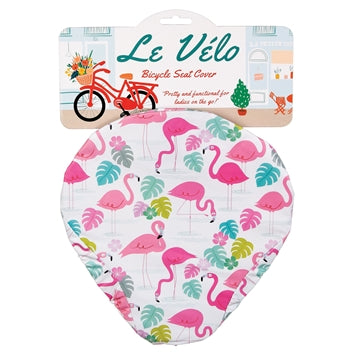 Flamingo bicycle seat cover