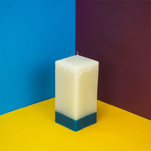 Watercolour square candle
