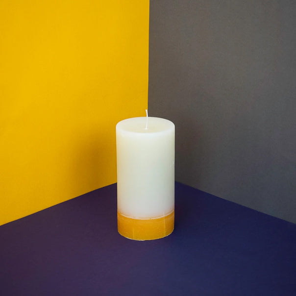 Ginger and lime pillar candle
