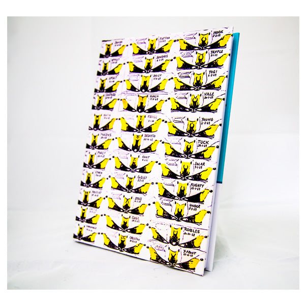Bewick's bill pattern hardback notebook, A5