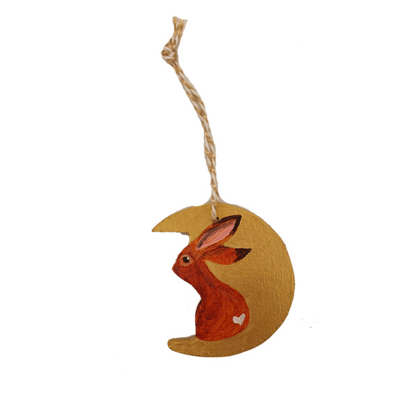 Handmade hare tree decoration