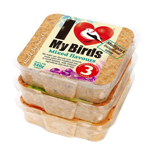 I Love My Birds™ Cakes - Pack of 3 Assorted Flavours